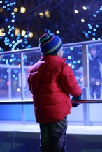 Watching ice skaters
